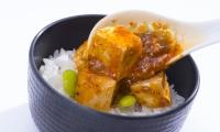 ⑰四川麻婆豆腐 そら豆御飯