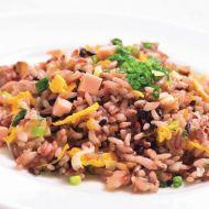 上川産黒米の炒飯