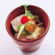 道産帆立とトロ湯葉柚子香る鼈甲餡で