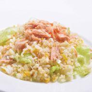 レタスと道産鮭の特製炒飯