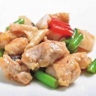 蓮根入り鶏肉の辣醤炒め