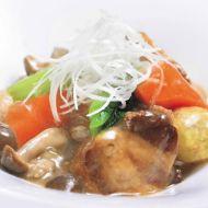 道産豚バラ肉と秋野菜の煮物