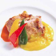 伊達産鶏モモ肉のグリル現代風オングロワーズ