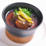 柚子香る牛煮込み餡の茶碗蒸し