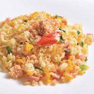 鮭と蟹の翡翠炒飯